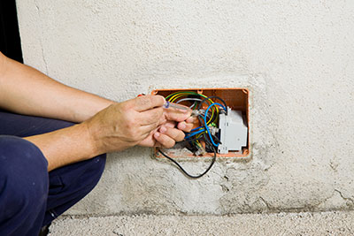 man-working-with-wires