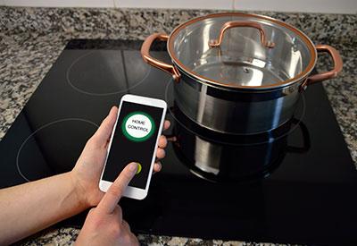 Smart home stove top