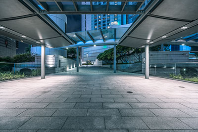 pedestrian-walkway-at-night