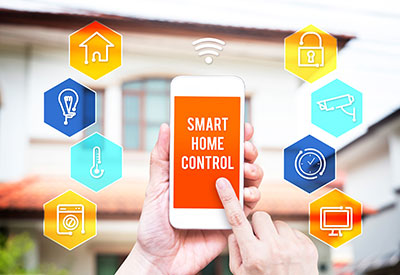 Control smart home from smartphone